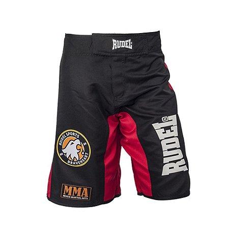 Bermuda Masculino MMA Adler 1 Vermelho Preto Rudel Sports Tamanho G