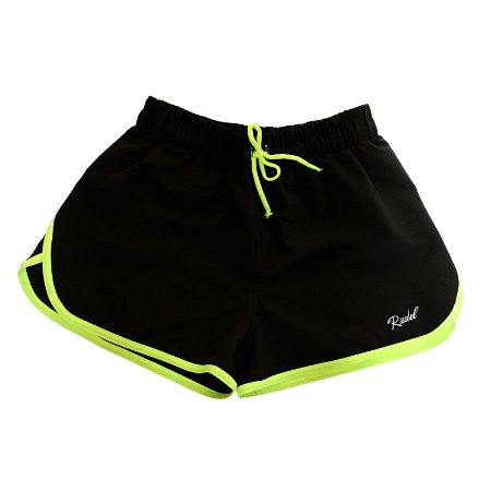 Shorts Feminino Sprint Preto e Verde Rudel Sports Tamanho P
