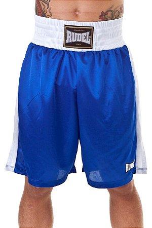 Shorts de Boxe Masculino Classic Azul Rudel Sports Tamanho M