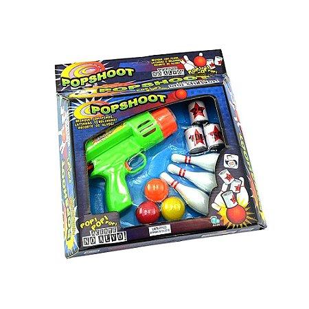 Brinquedo Acerte o Alvo Revolver Com Atirador de Bolinhas
