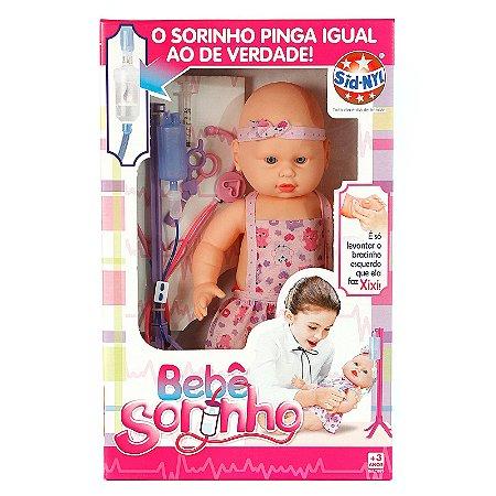 Boneca Tipo Bebê Reborn Toma Sorinho e Faz Xixi de Verdade Com 8 Acessórios