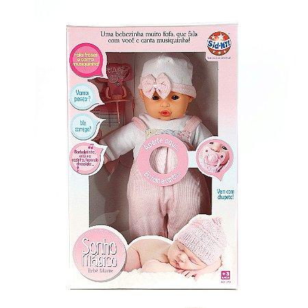 Boneca Tipo Bebê Reborn Que Fala e Canta Com 4 Acessórios