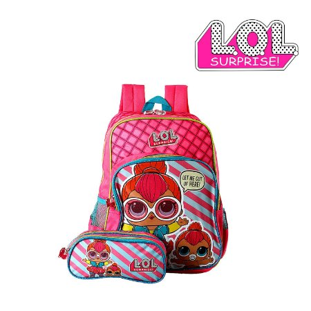 Kit Mochila Infantil Escolar Lol Surprise De Costa
