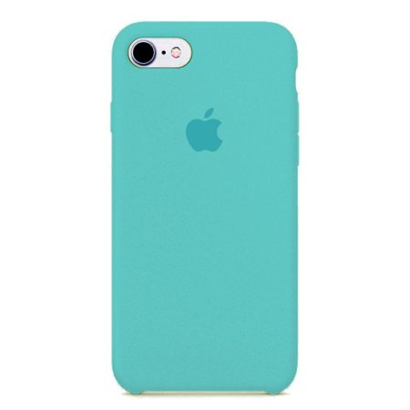 Capa Iphone 7/8 Silicone Case Apple Azul