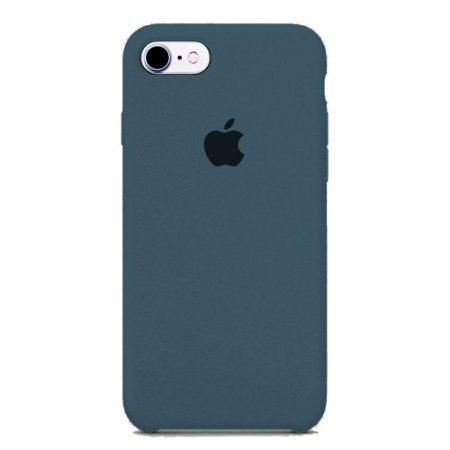 Capa Iphone 7/8 Silicone Case Apple Azul Marinho