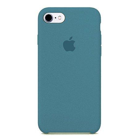 Capa Iphone 7/8 Silicone Case Apple Azul Escuro