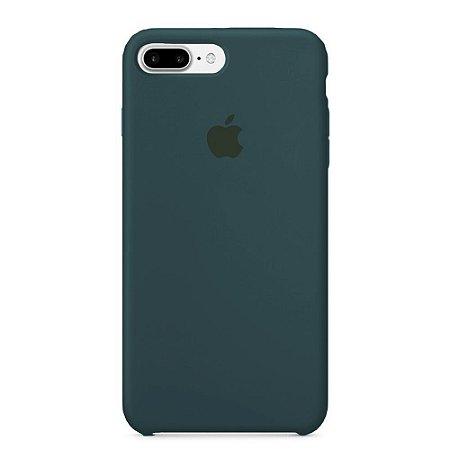 Capa Iphone 7/8 Plus Silicone Case Apple Azul Escuro