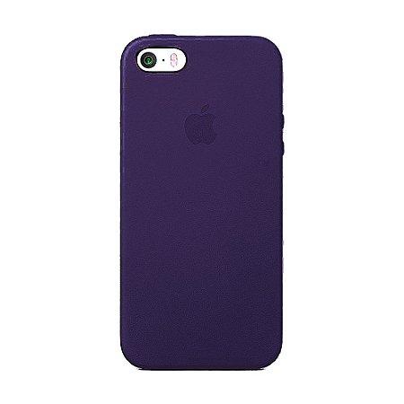 Capa Iphone SE Silicone Case Apple Roxo