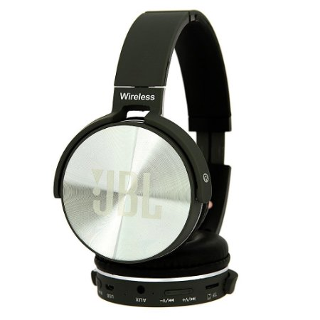 Fone De Ouvido Wireless Bluetooth Everest JB950 Headset Micro Sd Am Fm Cinza