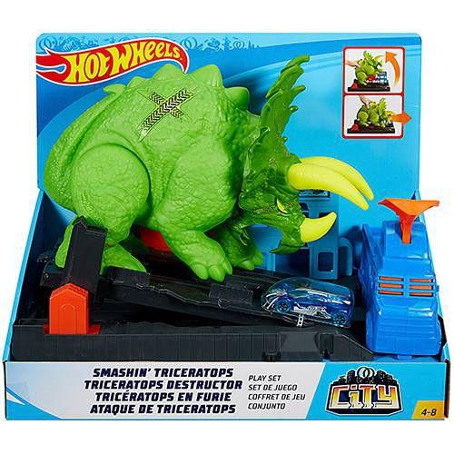 Brinquedo Carrinho Hot Wheels Ataque de Triceratops - Mattel