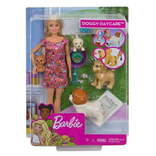 Boneca Barbie Doggy Daycare Animais de Estimação - Mattel