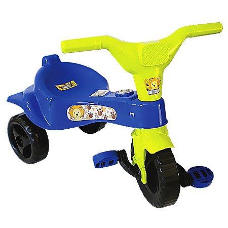Triciclo Motoca Velotrol Tico Tico Infantil Azul Omotcha