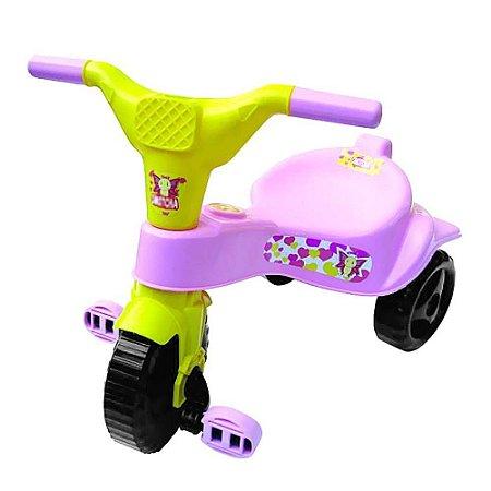 Triciclo Motoca Velotrol Tico Tico Infantil Rosa Omotcha
