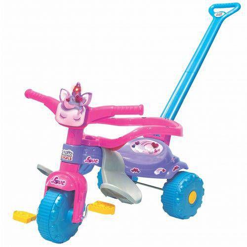 Triciclo Tico- Tico Unicórnio Love Com Luz Velotrol Infantil