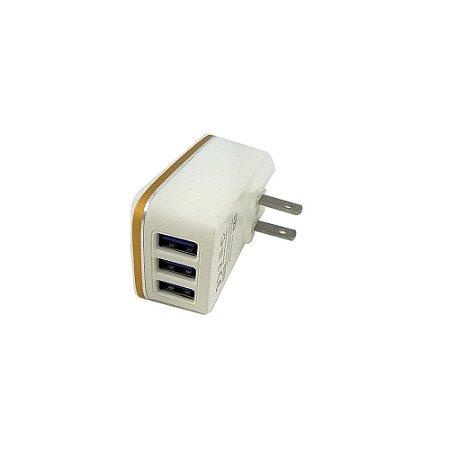 Carregador Rápido 5.1A Com 3 Saídas USB CAR-8161 - Inova