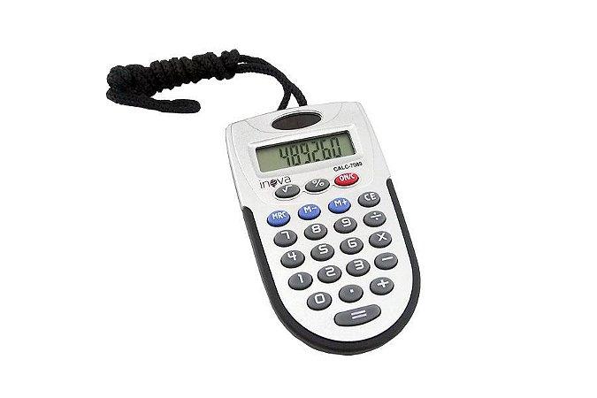 Calculadora Eletrônica De Bolso 8 Dígitos Com Cordão CALC-7089 - Inova