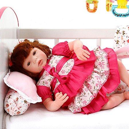 Boneca Bebe Reborn Eloise Ana Laura Salmão Cegonha Reborn Dolls Mais 24 Acessórios 48cm