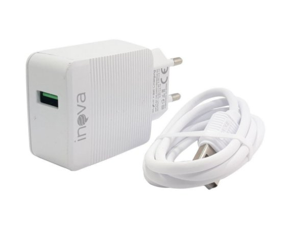 Carregador De Celular Para Viagem 15w USB 3.0 V8 CAR-G5094 - Branco - Inova