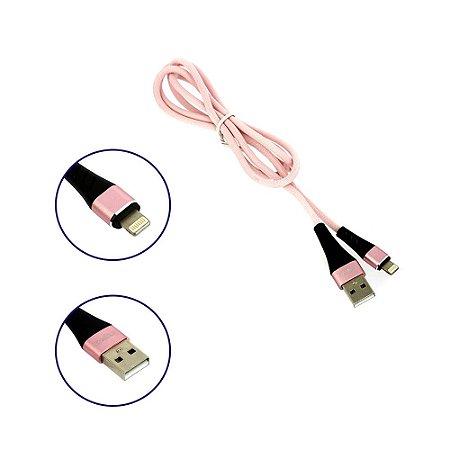 Cabo De Dados Reforçado USB De Iphone Tipo Lightning Rosa CBO-8320 - Inova