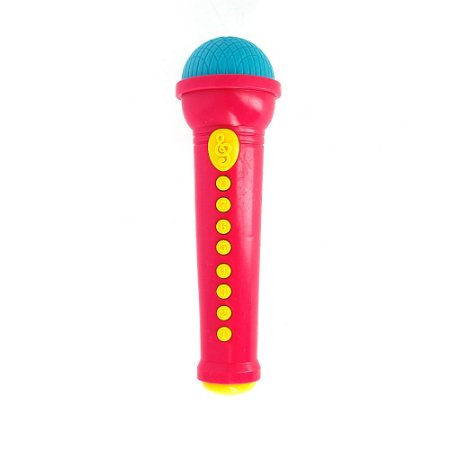 Brinquedo Infantil Microfone Musical Pop Star - Rosa - Art Brink