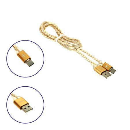 Cabo de Dados USB-C Super Reforçado LED Dourado CBO-7287 - Inova