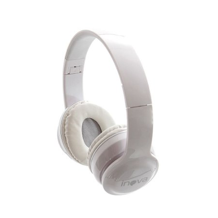 Fone De Ouvido Estéreo Bluetooth Sem Fio 5.0 + EDR FON-2165D - Branco - Inova