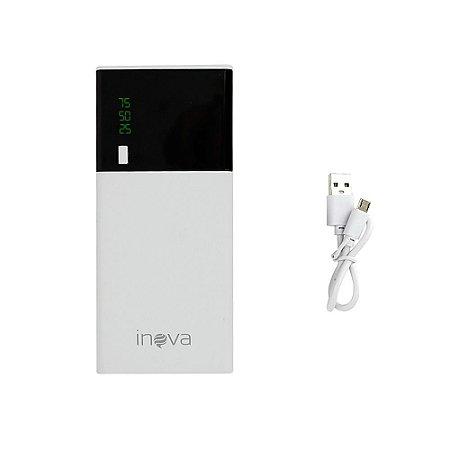 Power Bank Fonte de Alimentação Móvel Painel Digital Em Luz De LED 1000mAh Branco E Preto POW-8317 - Inova