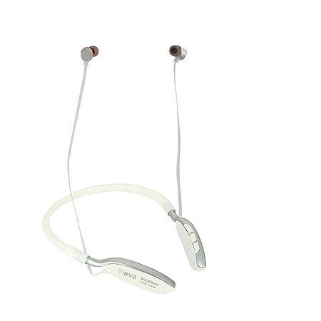 Fone De Ouvido Bluetooth De Pescoço Para Esportes Branco FON-2091D - Inova