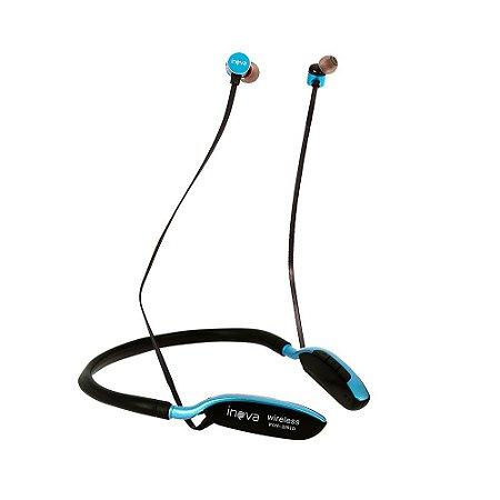 Fone De Ouvido Bluetooth De Pescoço Para Esportes Azul FON-2091D - Inova
