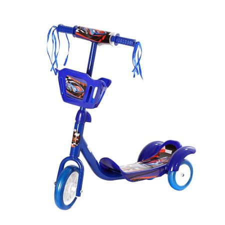 Patinete Infantil 3 Rodas Com Cesto - Azul - AMO648
