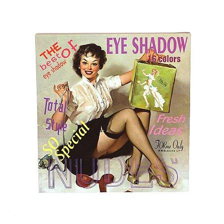 Paleta De Sombra Maquiagem Forme Only Color C Com 16 Cores