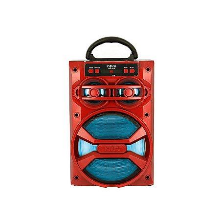 Caixa De Som Móvel Bluetooth Hi-Fi - Vermelha - RAD-8116 - Inova