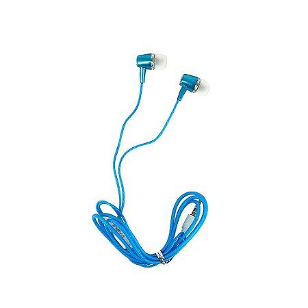 Fone De Ouvido Estéreo Com Design Inovador Azul FON-6706 - Inova