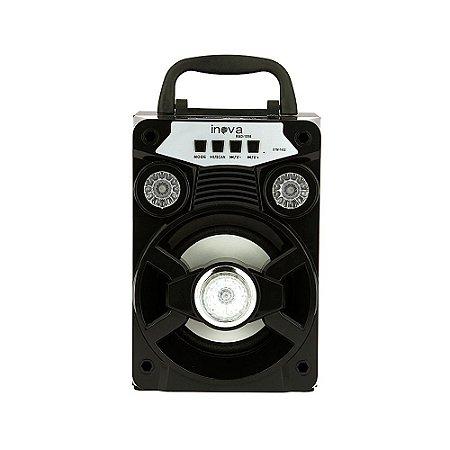Caixa De Som Com Alça De Transporte  Bluetooth Com LED Brilhante - Preto - RAD-1056 - Inova