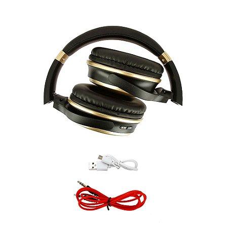 Fone De Ouvido Estéreo Sem Fio Dourado FON-8160 - Inova