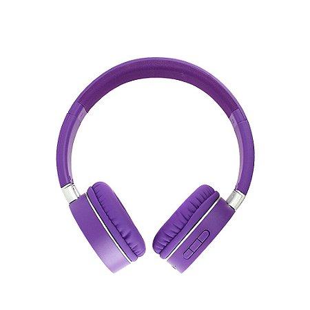 Fone De Ouvido Estéreo Sem Fio Dobrável FON-8156 - Roxo - Inova