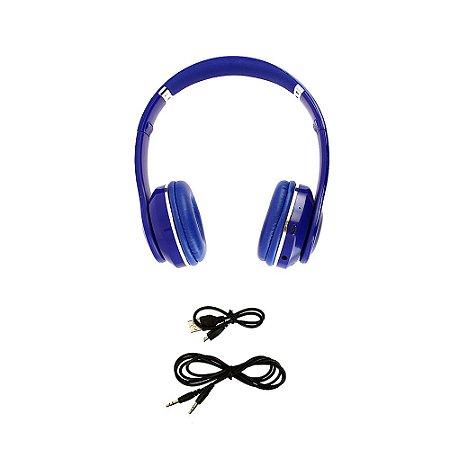 Fone De Ouvido Estéreo Sem Fio Com Microfone Embutido Azul  FON_7266 - Inova