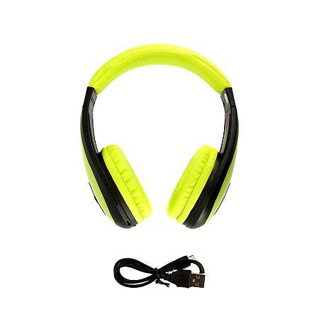 Fone De Ouvido Estéreo Sem Fio Dobrável Verde FON-6700 - Inova