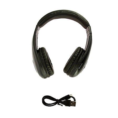 Fone De Ouvido Estéreo Sem Fio Dobrável Preto FON-6700 - Inova