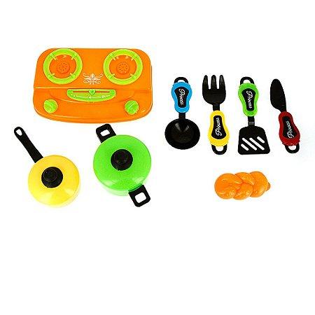 Kit Brinquedo Chefe de Cozinha Kitchen Play Set 10 Peças Infantil