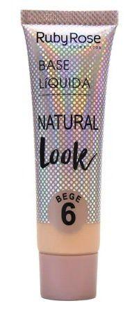 Base Líquida Natural Look Cor Bege 06 - HB-8051 - Ruby Rose