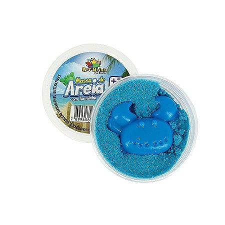 Massa De Areia Com Forminha 60g Azul - Art Brink