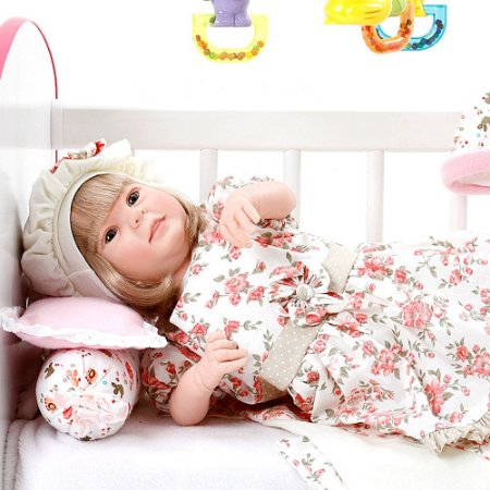 Boneca Bebe Reborn Diandra Encanto Floral Rosa Cegonha Reborn Dolls Mais 24 Acessórios 50cm