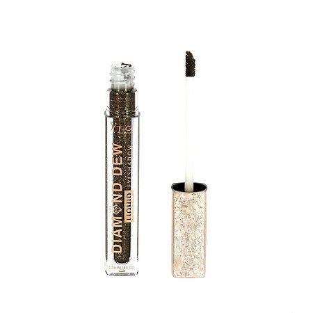 Maquiagem Sombra Líquida Diamond Dew Para Olhos - Cor Grafite Brilhante