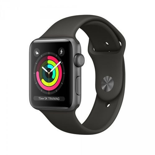 Relógio Apple Watch Series 3 Gps 42mm Space Gray Alumínio Pulseira Sport Preto