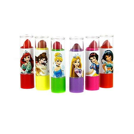 Kit 6 Batons Princesas Infantil Lápis Labial Princesas Da Disney