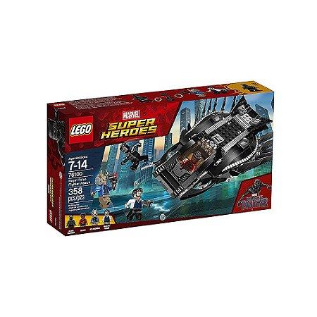 76100 - Lego Marvel Pantera Negra Super Heróis Kit de Construção Royal Talon Fighter Attack
