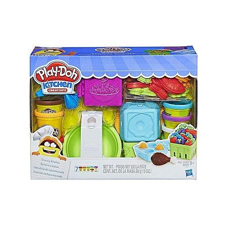 Massinha De Modelar Play-Doh Supermercado Na Cozinha 7 Cores Infantil