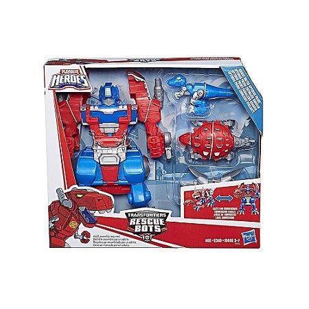 Transformers Rescue Bots - Robo de Cavaleiro da Playskool Heroes Optimus Prime