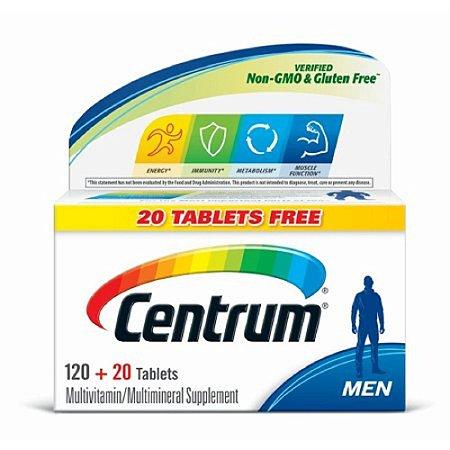 Multivitamínico E Mineral Suplemento Centrum Homem 140 Comprimidos